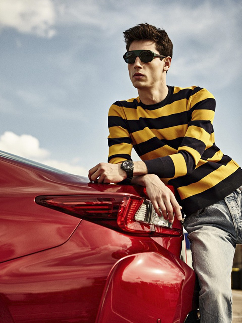 Nicolas Ripoll Hits the Race Track for El País Semanal Shoot