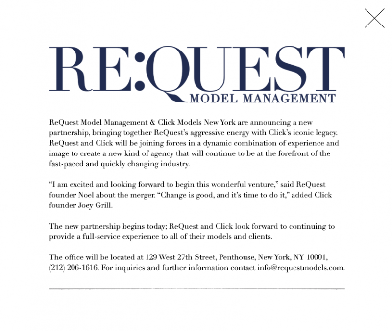 The announcement posted to Re:Quest's official website.