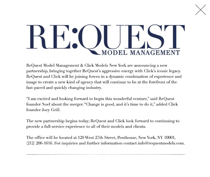 Re:Quest Model Management + Click Models New York Merging