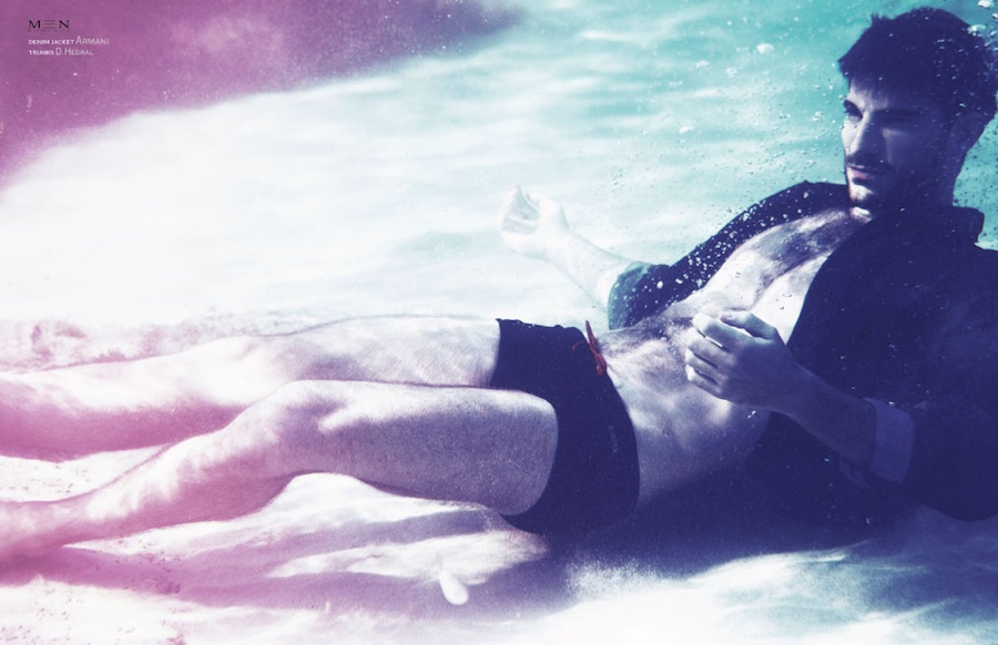 Ryan Barrett is Submerged in Summer Style for Men Moments