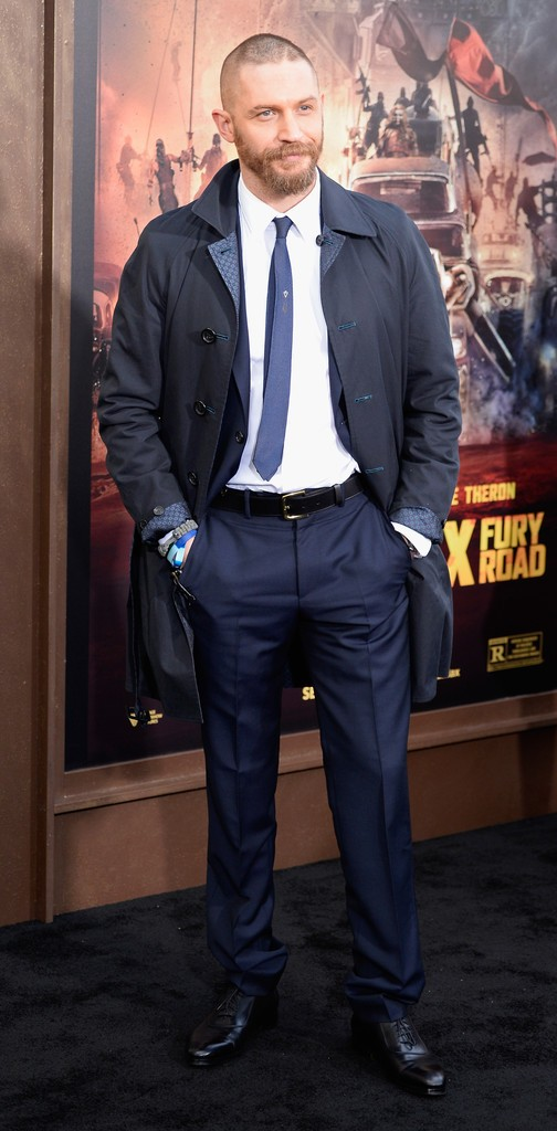 Tom Hardy at the Los Angeles premiere of Mad Max: Fury Road.