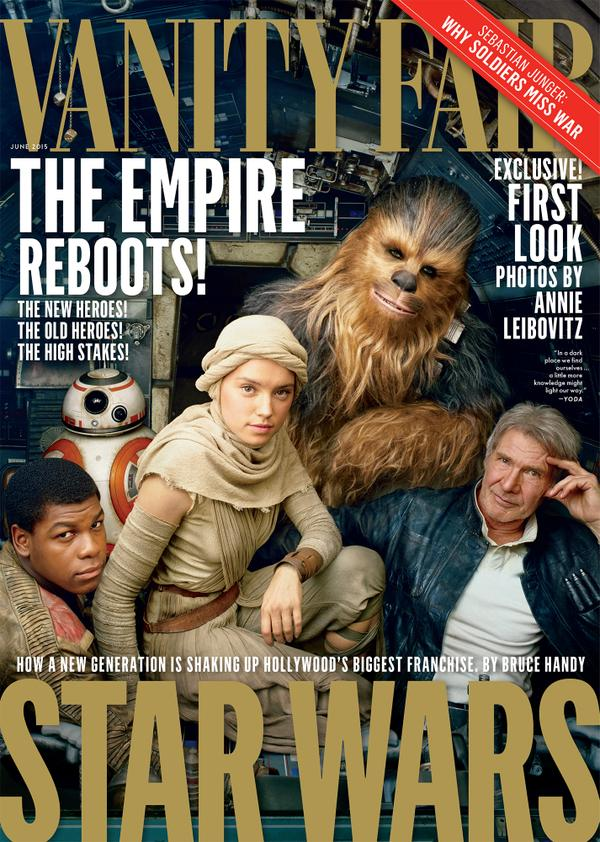 Vanity Fair takes a look at the new Star Wars universe for its June 2015 cover story.