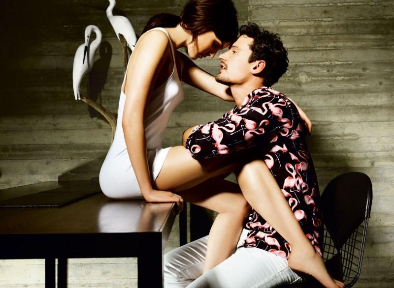 Sam gravitates towards Marc Jacobs' whimsical flamingo print.