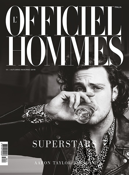 Aaron Taylor-Johnson covers the fall-winter 2015 issue of L'Officiel Hommes Italia.