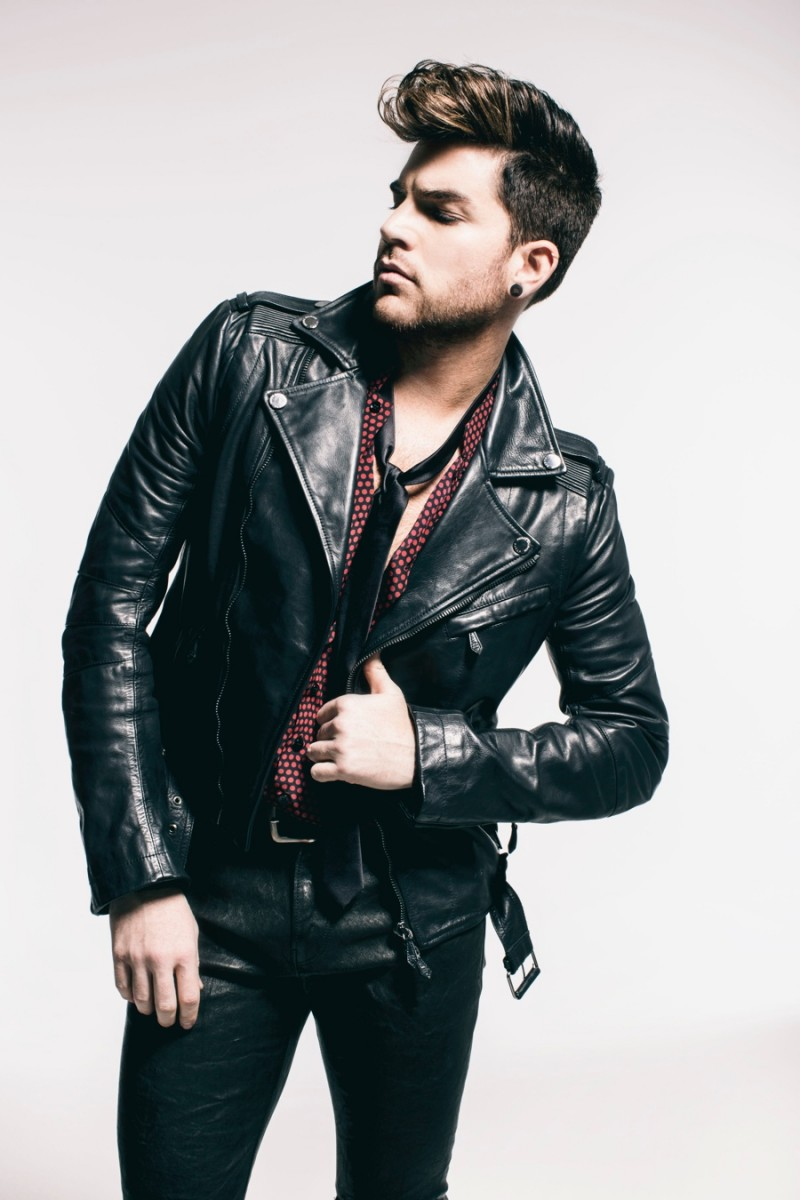 Leather jacket photoshoot - Hitting The Studio For Photos Adam Lambert Is Clad In Leather