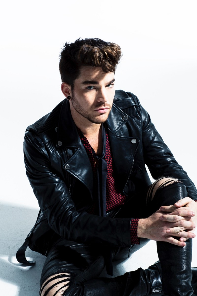 Leather jacket photoshoot - Adam Lambert Poses For The Lens Of Photographer David Roemer