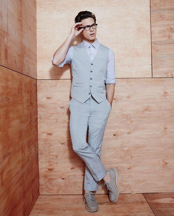 Adam Senn Dons Neutral Fashions for Macy's