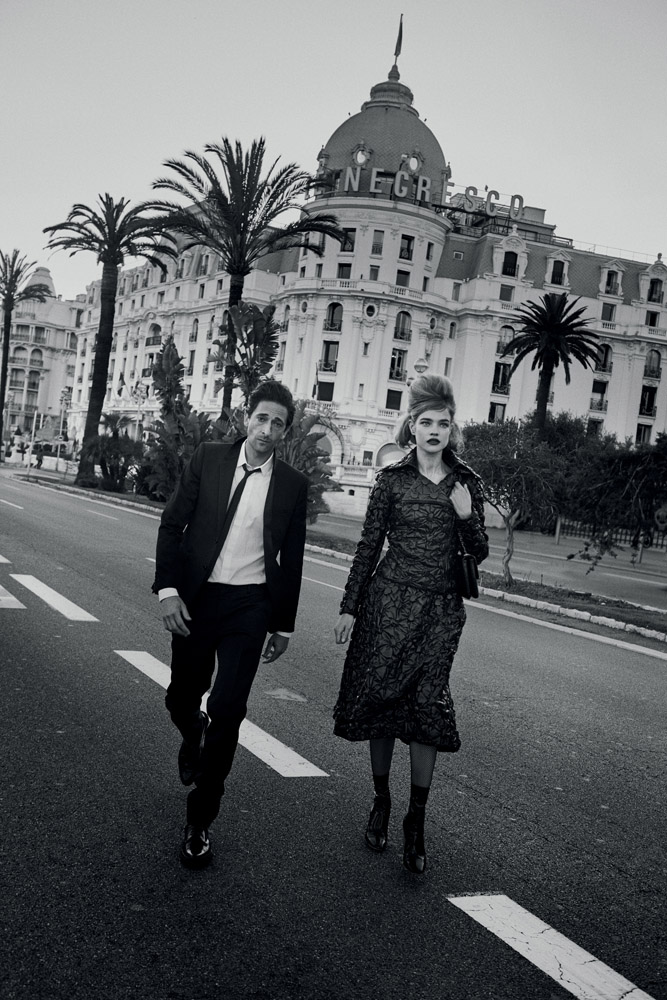 Adrien Brody Couples with Natalia Vodianova for Vogue Photo Shoot