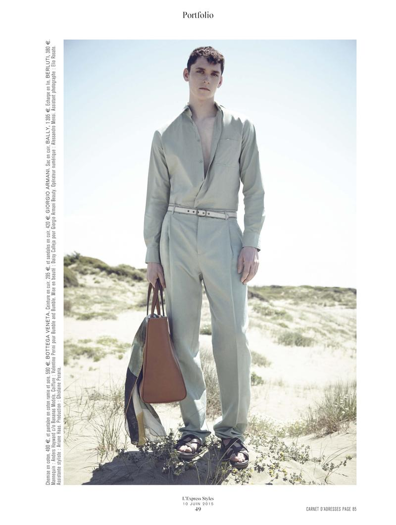 Anders Hayward Covers L'Express Styles, Dons Summer Fashions
