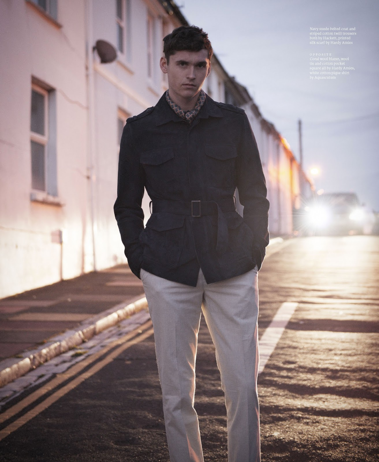 Anders Hayward Models Chic Tailored Styles for Article Editorial