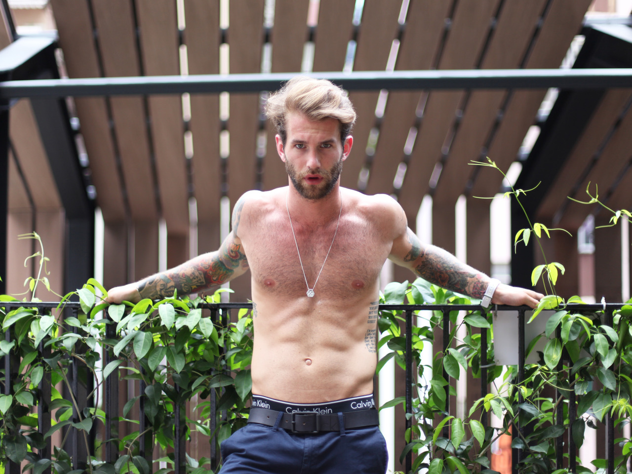 Model André Hamann Links Up with Calvin Klein