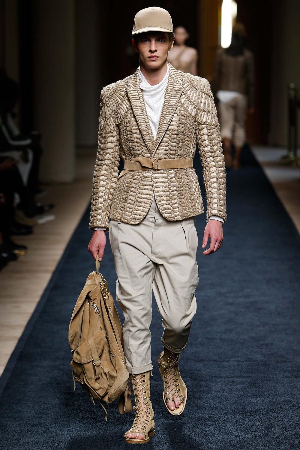 Balmain Spring Summer 2016 Menswear Collection Paris