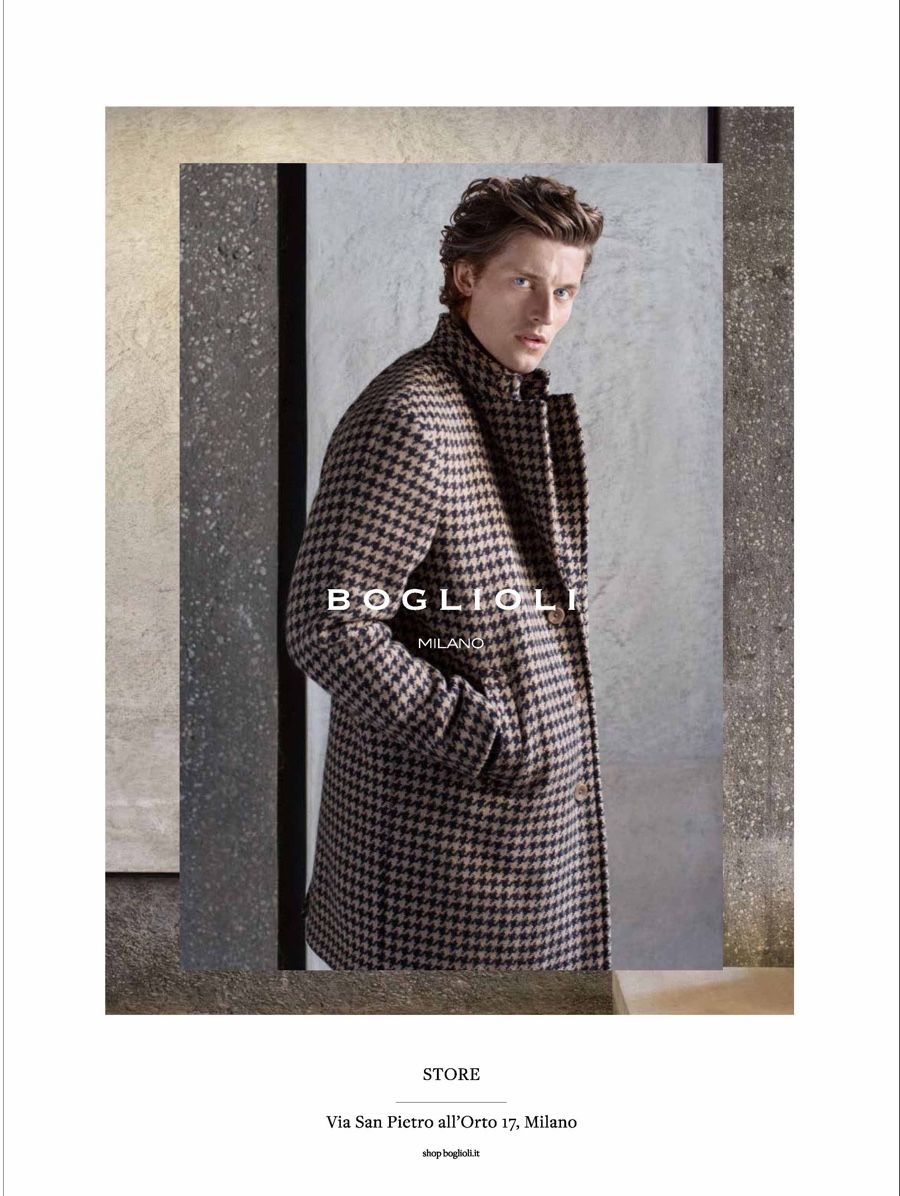 Boglioli Fall Winter 2015 Campaign  Wouter Peelen Dons Gray Suit ... 8aeae6c7c89