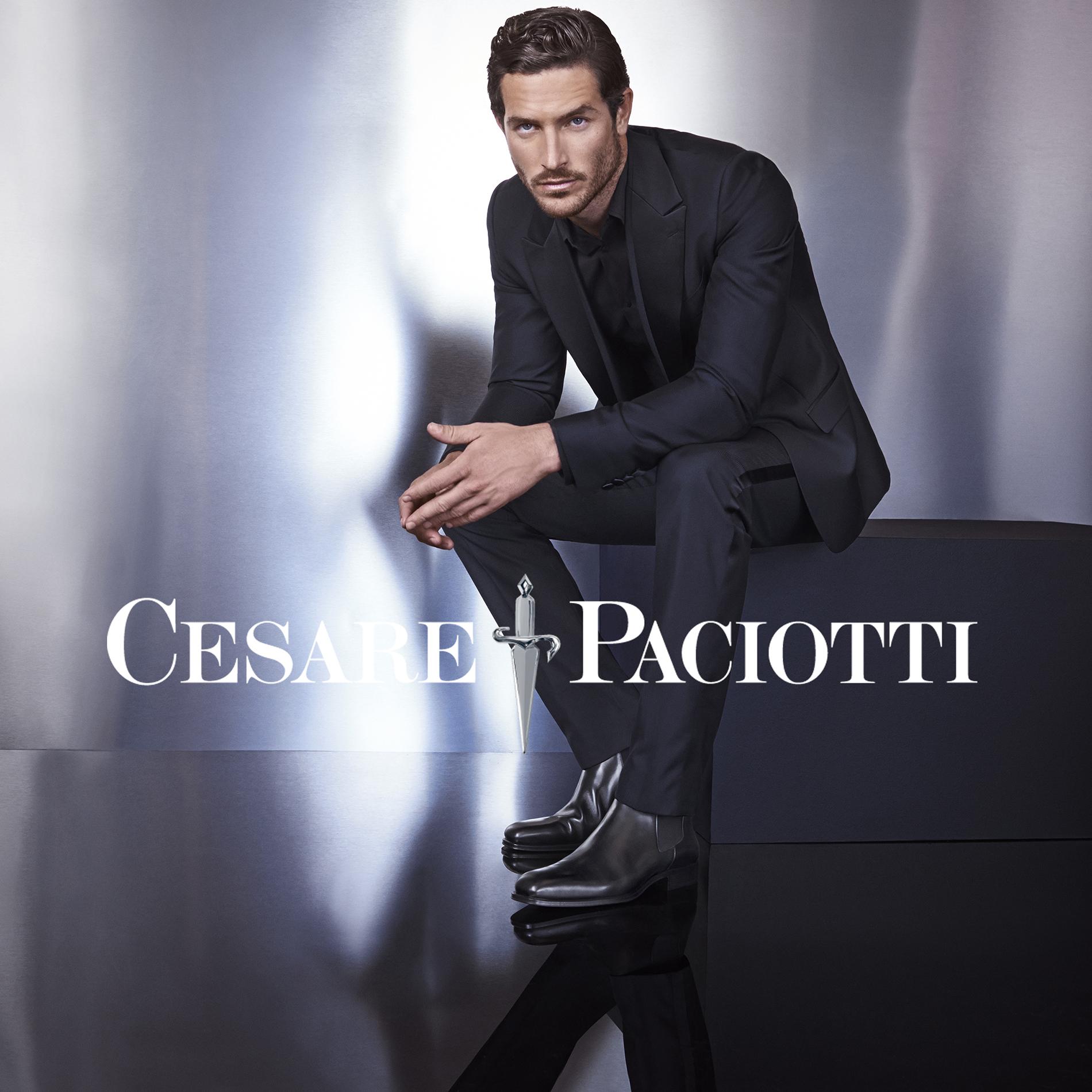 Justice Joslin Fronts Cesare Paciotti's Fall/Winter 2015 Campaign