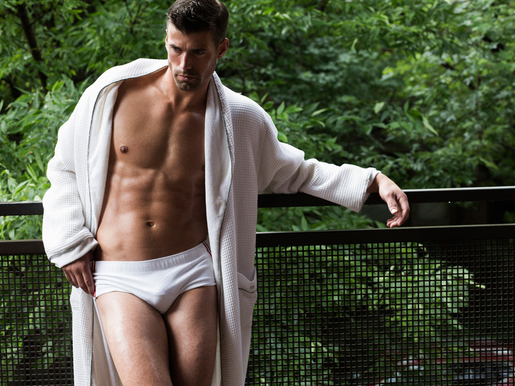 Charlie Wood is White Hot for Greg Vaughan Shoot