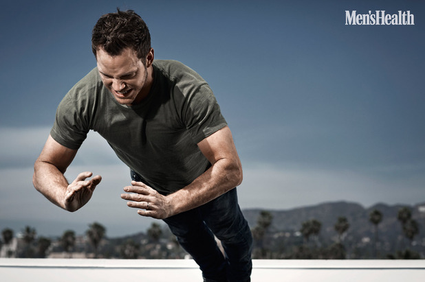 Chris Pratt performs a workout for the pages of Men's Health UK.