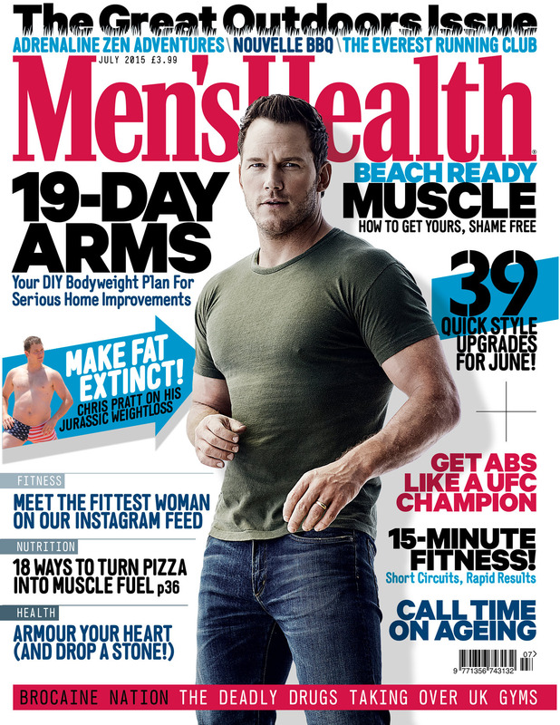 Chris Pratt covers the July 2015 edition of Men's Health UK.