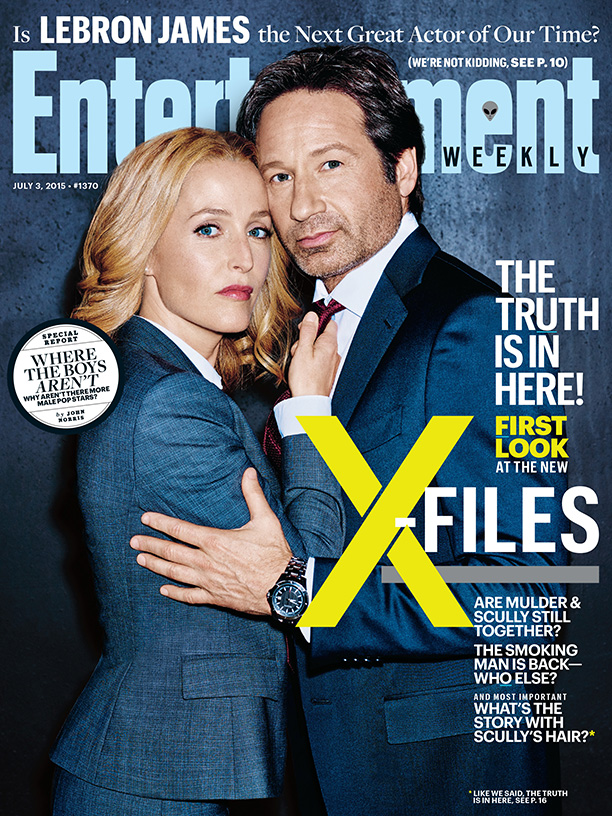 'The X-Files' Stars David Duchovny + Gillian Anderson Cover Entertainment Weekly