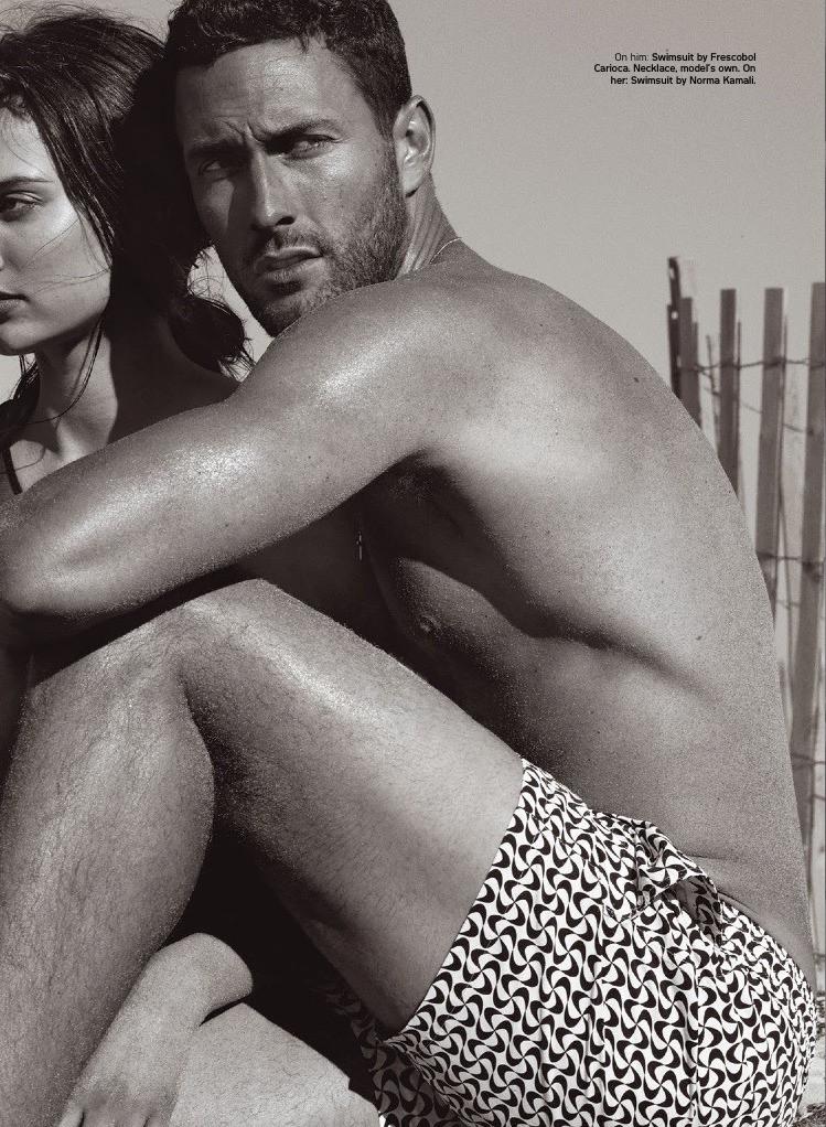 Noah Mills, Arthur Kulkov + More Model Swimwear for Details Beach Shoot