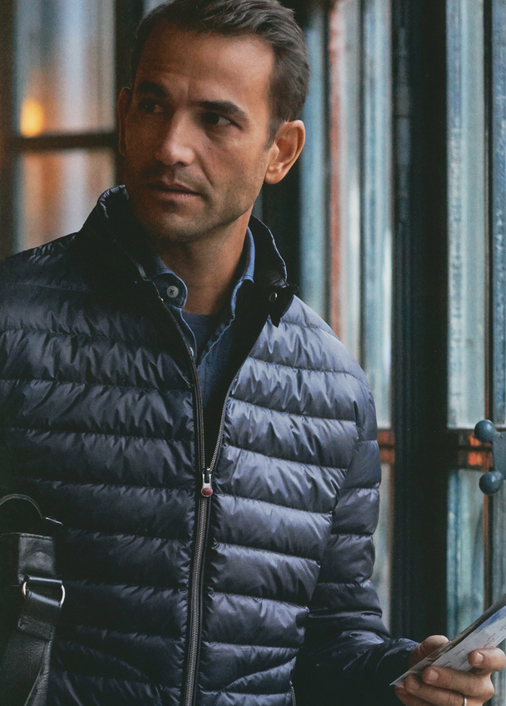 Enrique Palacios Models Quilted Outerwear + More for BRAX Winter 2015