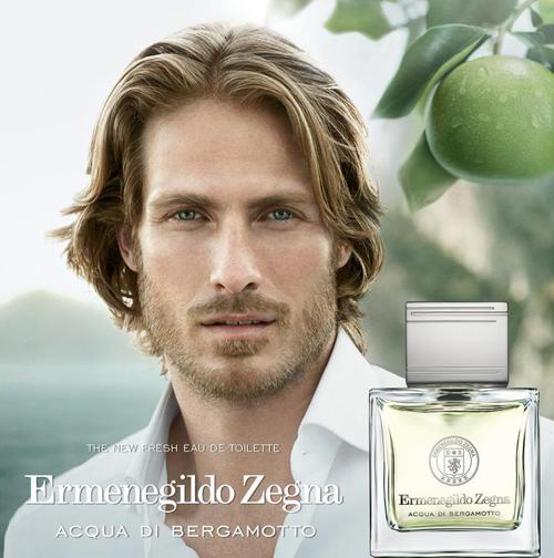 Ryan Burns fronts Ermenegildo Zegna Acqua di Bergamotto's fragrance campaign.