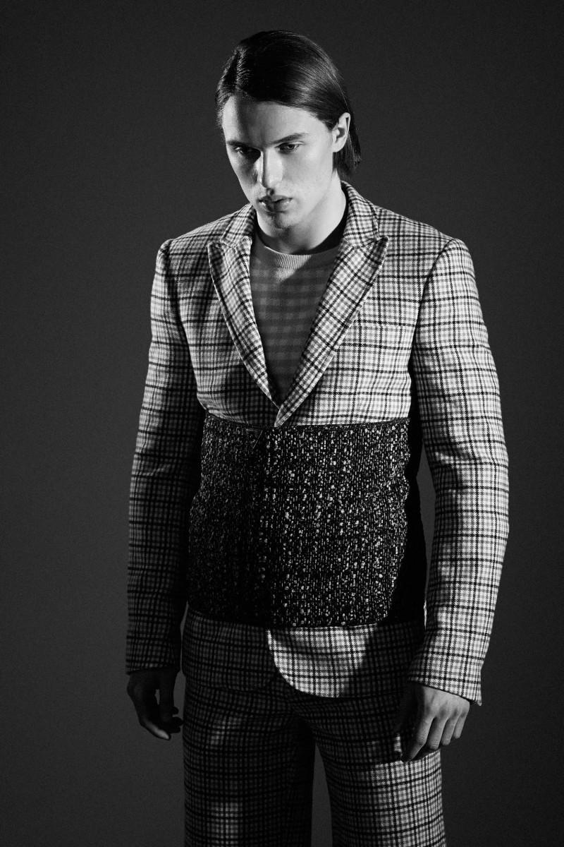 Johannes wears all clothes Au Jour Le Jour, vintage scarf used as waistband Artillerylane from Archivio Guerrini.