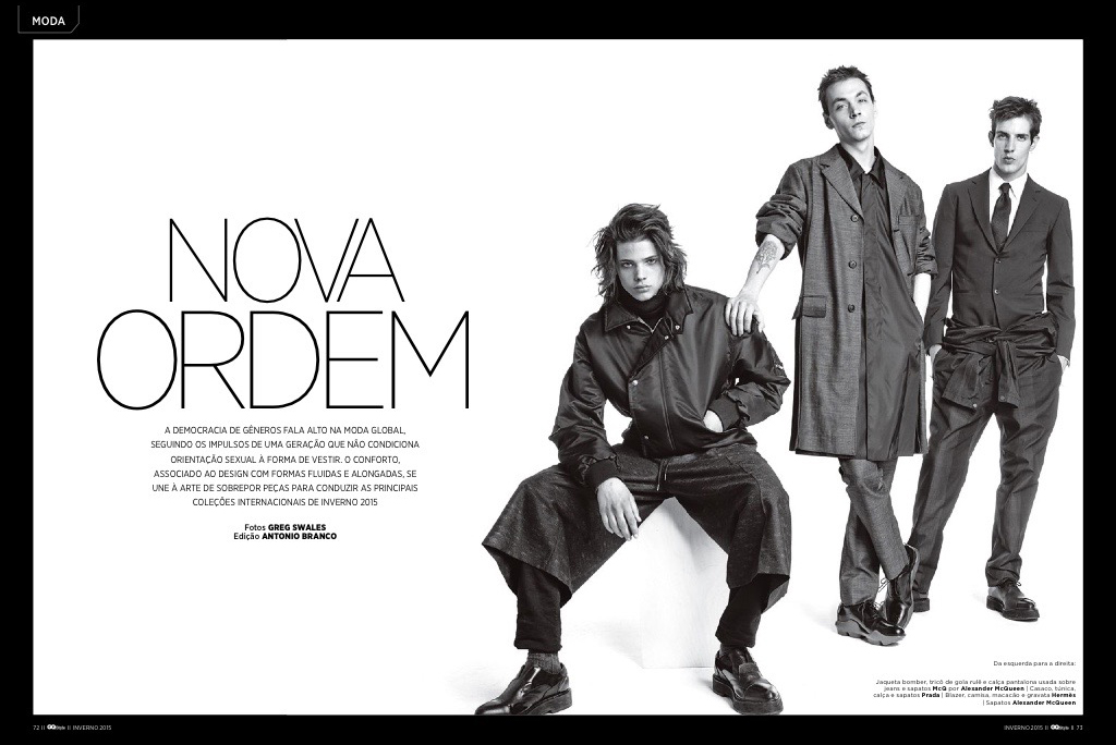 Yuri Pleskun, Nicola Wincenc + More Appear in GQ Brasil