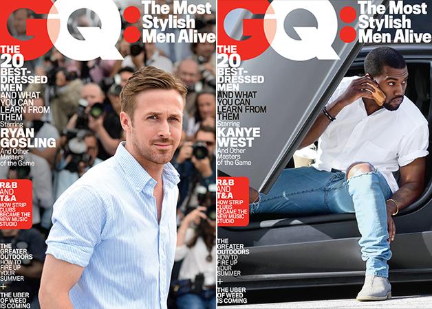 Ryan Gosling + Kanye West Among GQ's Most Stylish Men Alive