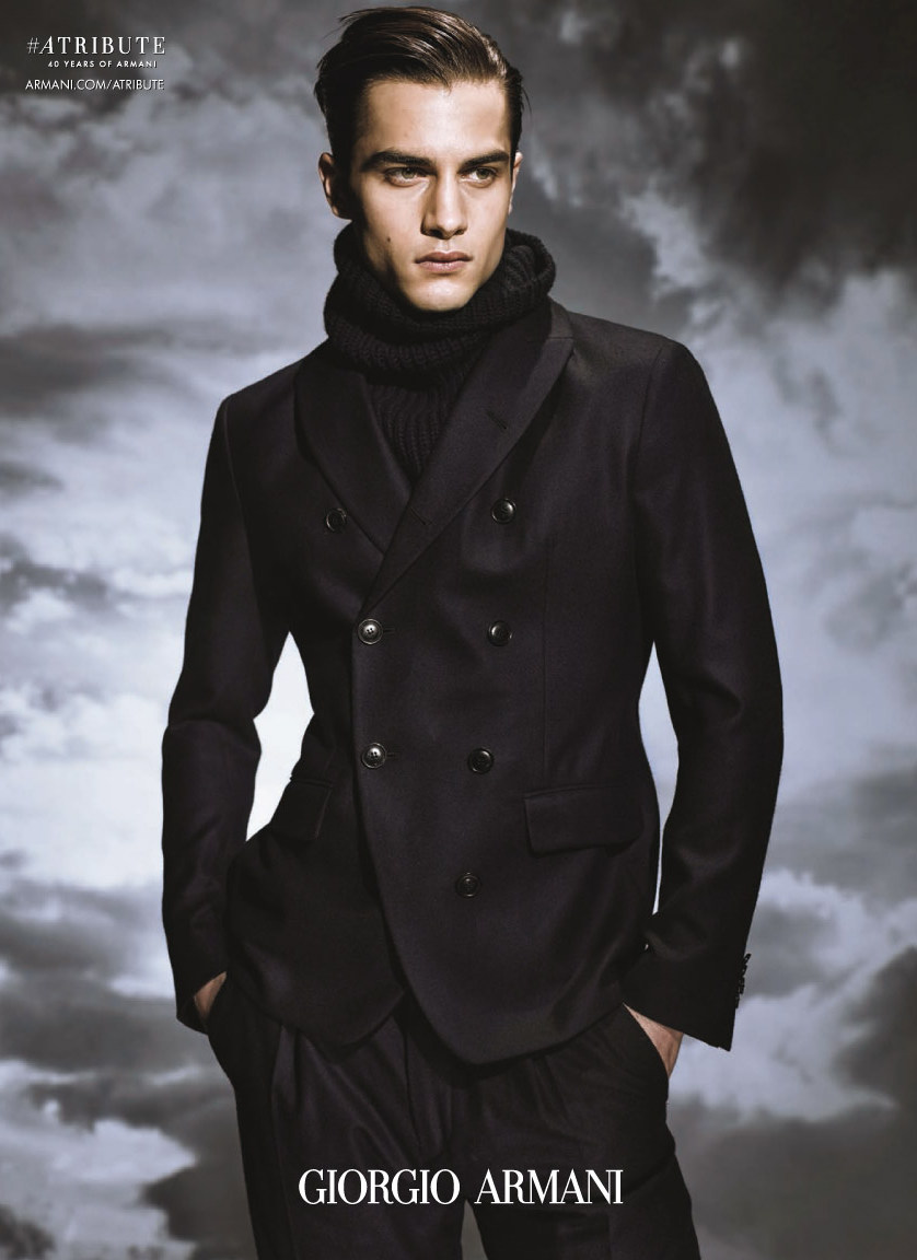 Giorgio Armani Fall/Winter 2015 Campaign Delivers Classic Menswear