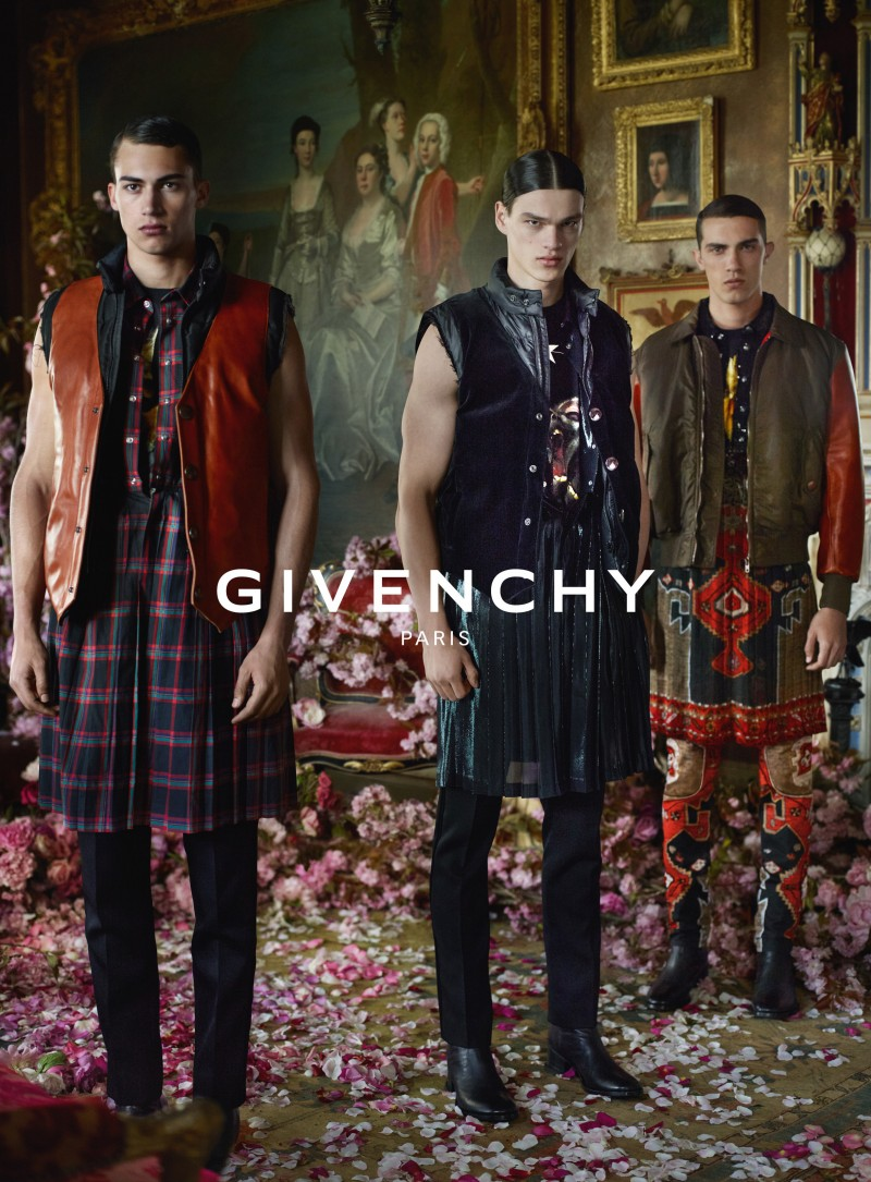 Alessio Pozzi, Filip Hrivnak and Lucas Cantao star in Givenchy's fall-winter 2015 menswear advertising campaign.