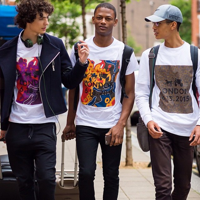Spotted by the New York Times, models leave Coach's spring-summer 2016 show in limited edition t-shirts.