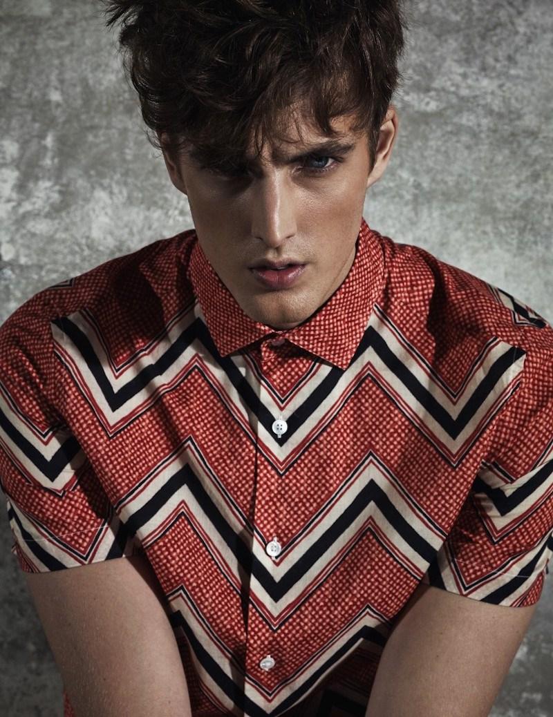 James Smith Dons Designer Looks for Harper's Bazaar Man Korea
