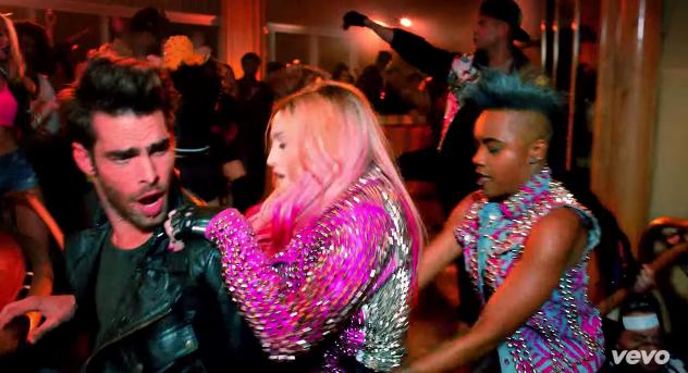 Jon Kortajarena appears in Madonna's new music video for Bitch I'm Madonna.