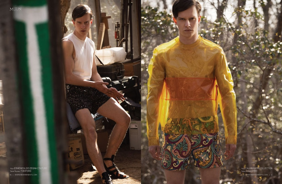 Leo Bruno Heads to Woods for Men Moments Cover Shoot