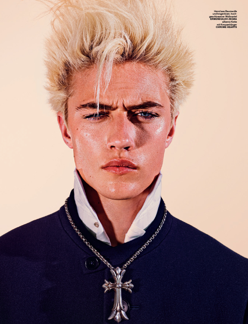 Lucky Blue Smith Channels Billy Idol For Num 233 Ro Homme Berlin