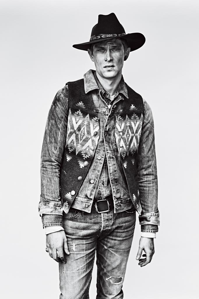Mathias Lauridsen Goes Western For Men S Week Shoot The