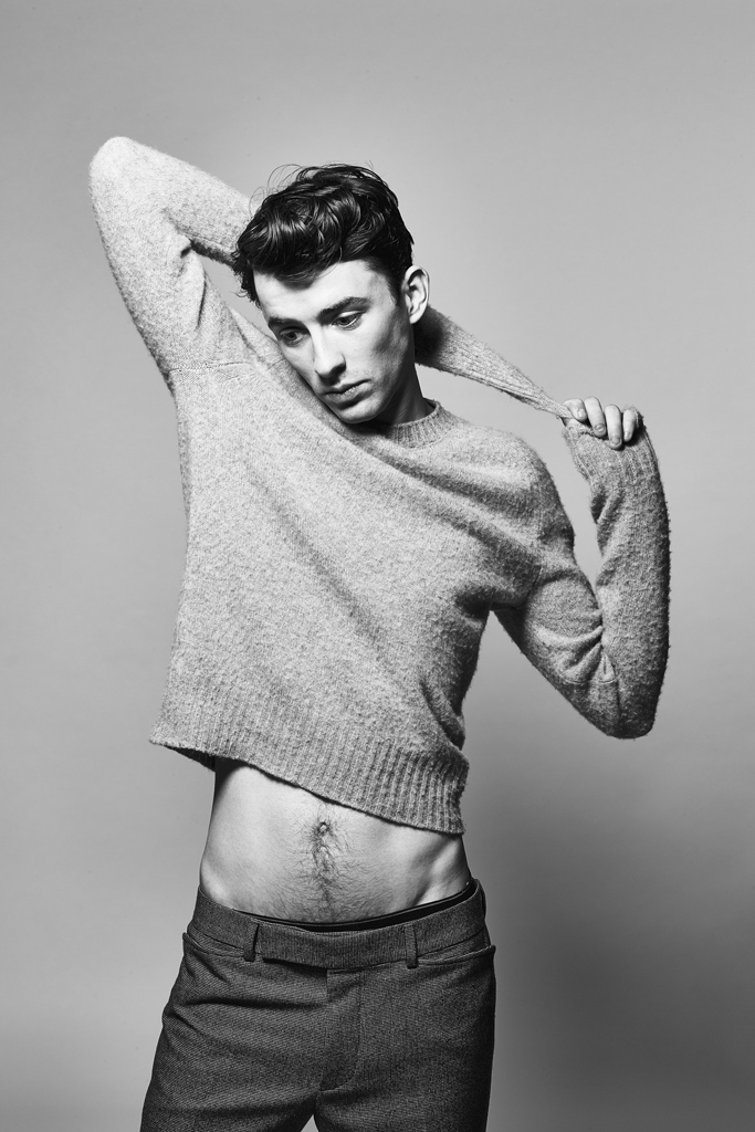 Matthew Beard is styled by Alex Badia for the photo shoot.