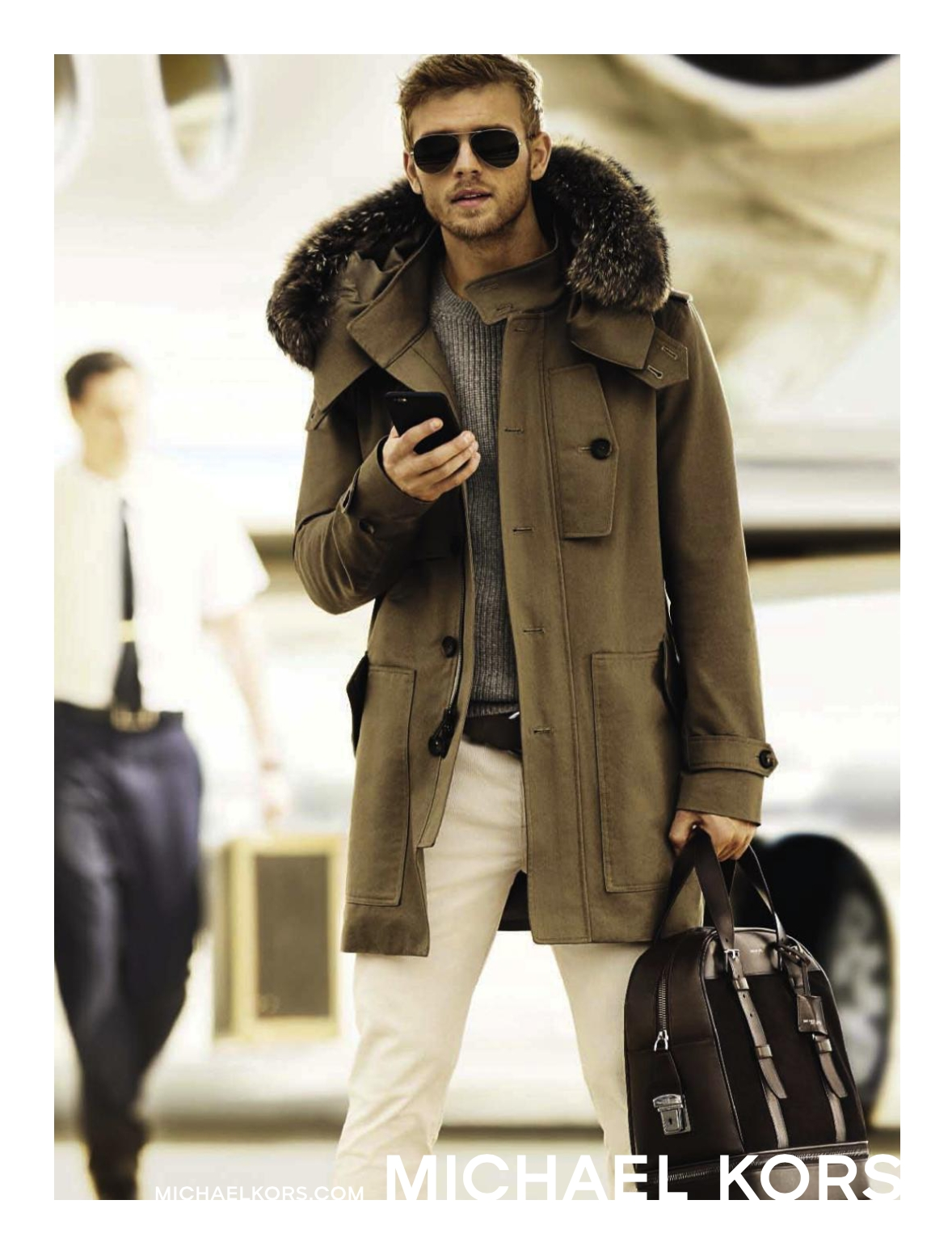 Benjamin Eidem Dons Duffle Coat for Michael Kors Fall/Winter 2015 Campaign