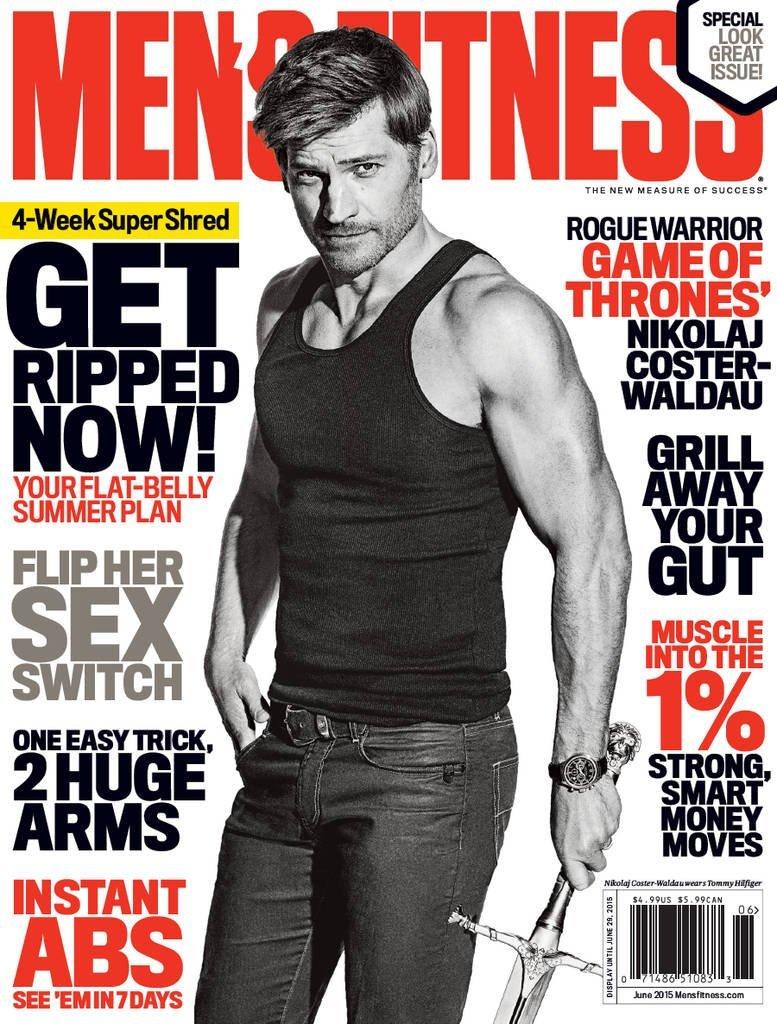 Nikolaj Coster-Waldau Covers June 2015 Men's Fitness