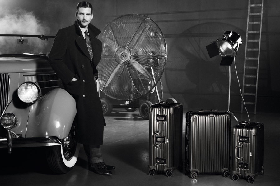 Johannes Huebl Channels Old Hollywood for RIMOWA Shoot
