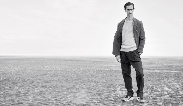 Rogier Bosschaart Heads to Beach for Autumn Coat Feature