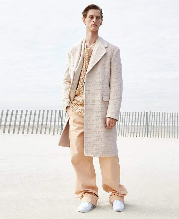 Rogier Bosschaart Heads to Beach for Autumn Coat Feature