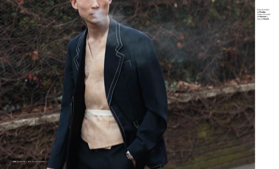 Sang Kim Tackles Designer Tailoring for Esquire Big Black Book España