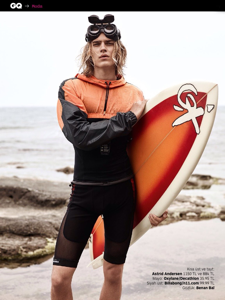 Ton Heukels Sports Active Styles for GQ Turkey Beach Shoot