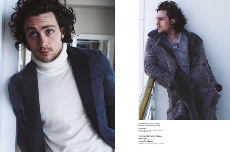 Aaron Taylor-Johnson Poses for L'Officiel Hommes Italia Photo Shoot