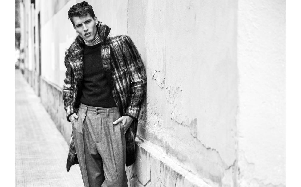 Adrian Cardoso Models Fall Coats for Hercules