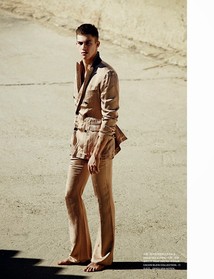 Alessio Pozzi is Easy Summer Vision for Numéro Homme China Editorial