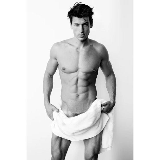 Bruno Endler Poses for Mario Testino 'Towel Series'