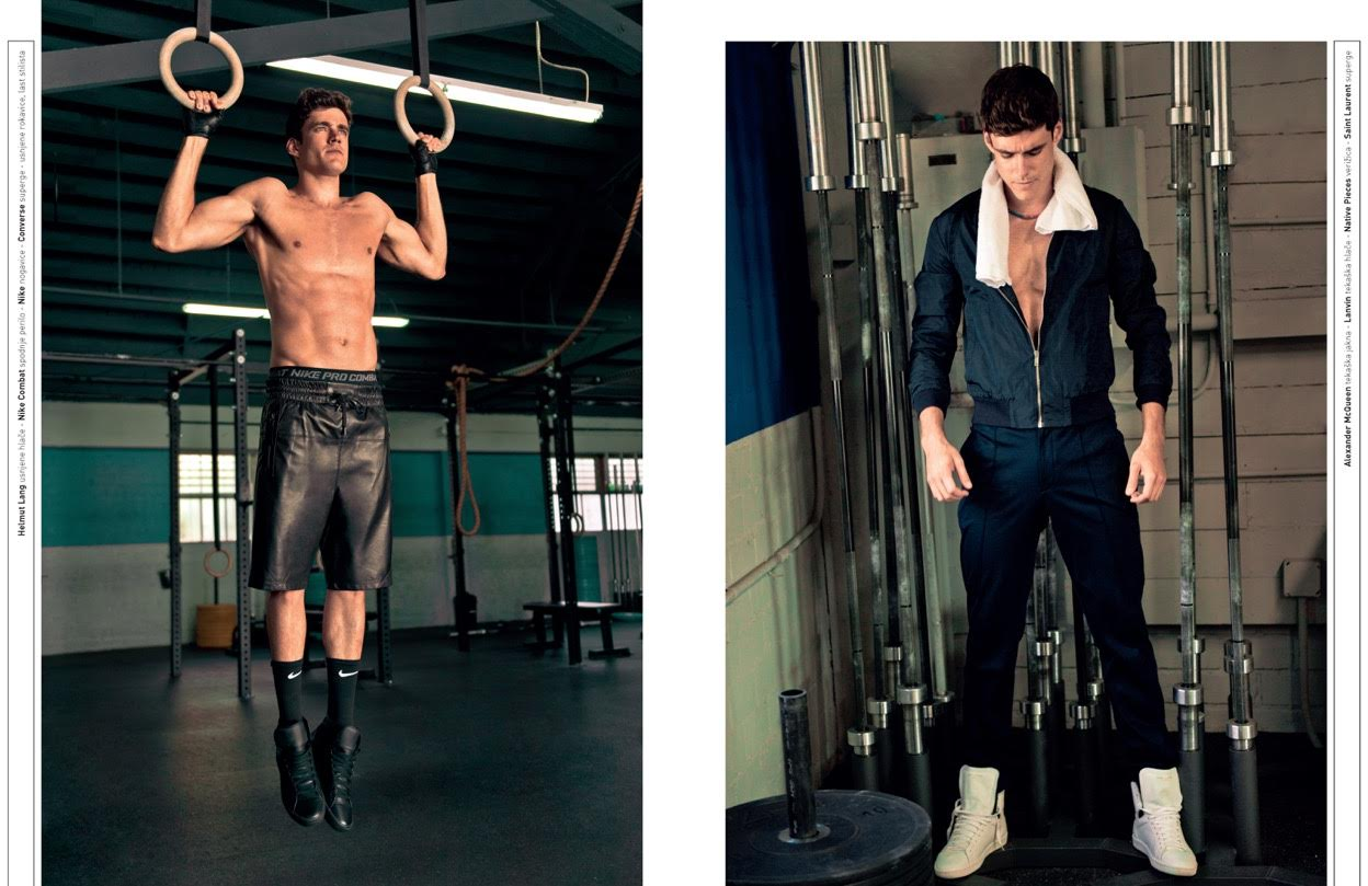 Caio Cesar Works Out for Sporty David Shoot