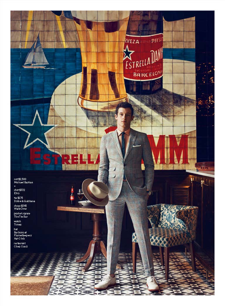 Callum Turner Dons Summer-weight Suiting for GQ July 2015 Shoot